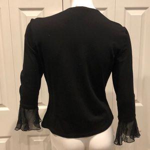 Cache Tops - Zip ruffle blouse